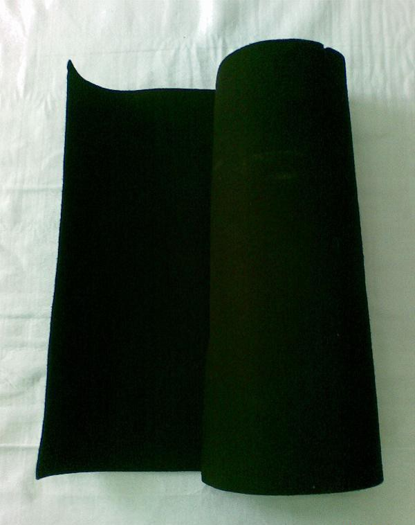 activated carbon nonwoven air filter material